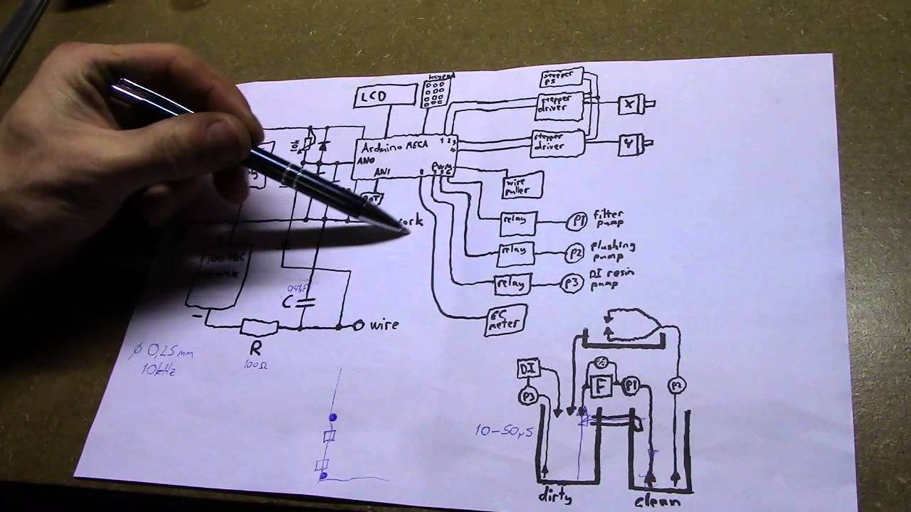 Arduino Wire Edm Schematic Explanation