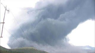 速報 阿蘇山が噴火 噴石、火山灰などに警戒(15/09/14)