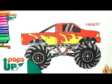 Hướng Dẫn Vẽ Xe Đua Thần Tốc - Racing Car Drawing | Como dibujar