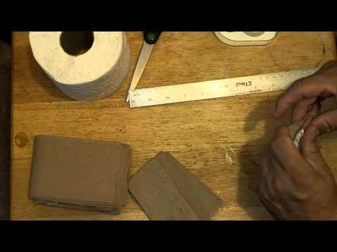 Making MRE Toilet Paper for BoB bag / back packing
