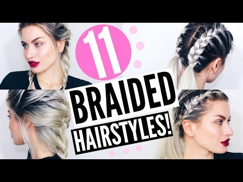11 BRAIDED HAIRSTYLES! HEATLESS & EASY