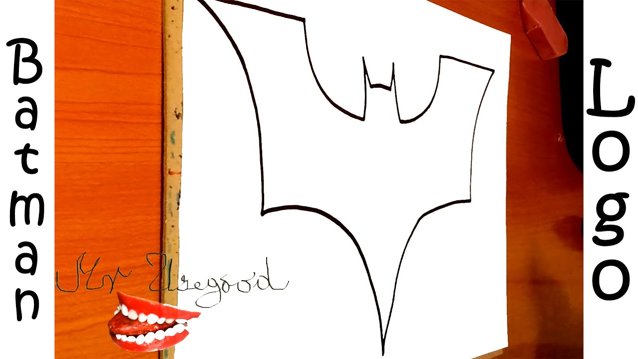 How to draw batman logo step by step easy dark knight for How to draw easy but cool things