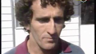 Alain Prost after Suzuka 1990