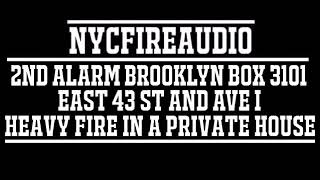 NYCFireAudio - FDNY Brooklyn 2nd Alarm Box 3101 Audio - Fire in (2) private dwellings - 12/8/18
