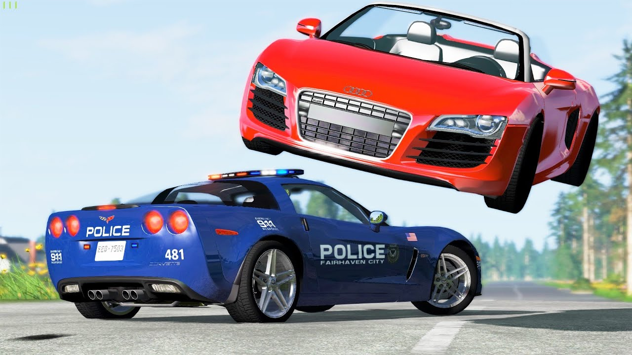 Epic Police Chases & Crashes #65 - BeamNG Drive | CRASHdriven