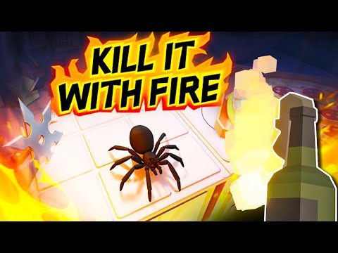 Burning EVERYTHING To Destroy The Jumping Spiders - Kill It With Fire (Game Update) |