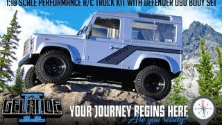 RC ADVENTURES - RC4WD Gelände II 4x4 Truck Kit w/Defender D90 Body Set - Unbox