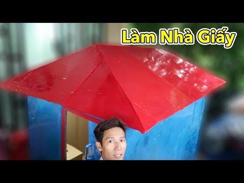 Lamtv - Làm Nhà Bằng Giấy Đầy Đủ Tiện Nghi | DIY House Cardboard Box