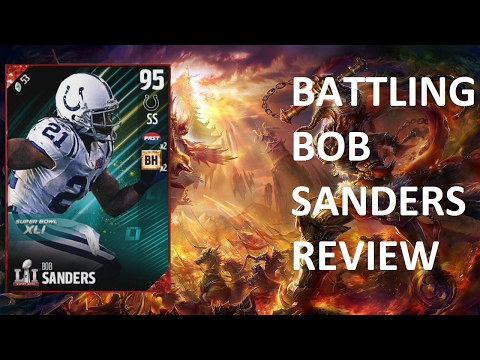 How good is 95 Bob Sanders? - MUT 17 Card Review