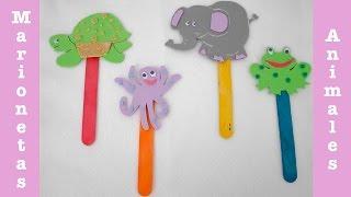 Manualidad: Marionetas de Animales con palos de polo