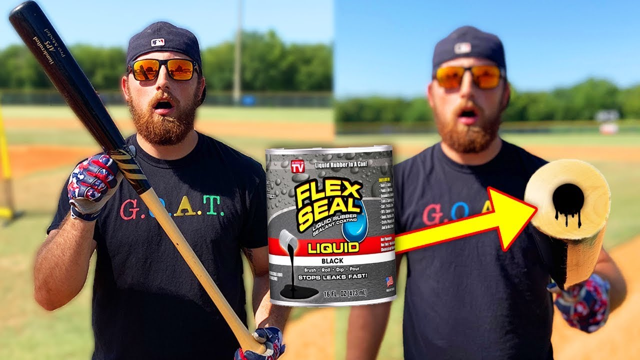 Baseball Bat With Flex Seal Corked