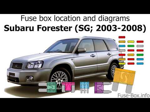 fuse box location and diagrams subaru forester (sg; 2003 2008