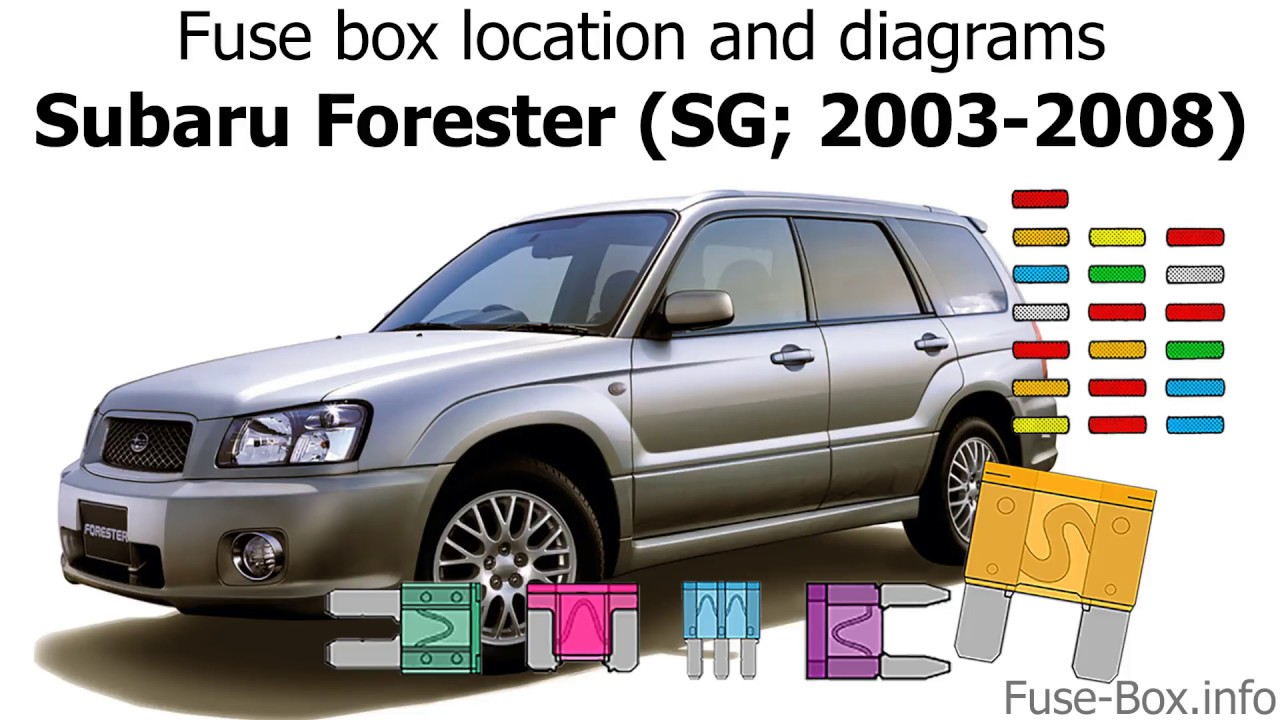 medium resolution of fuse box location and diagrams subaru forester sg 2003 2008 2003 subaru forester fuse box location