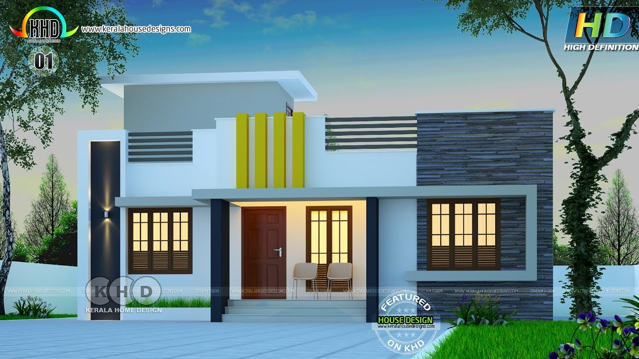 Low Cost Modern Kerala Home Plan 8547872392: 10 Low Cost House Designs #1