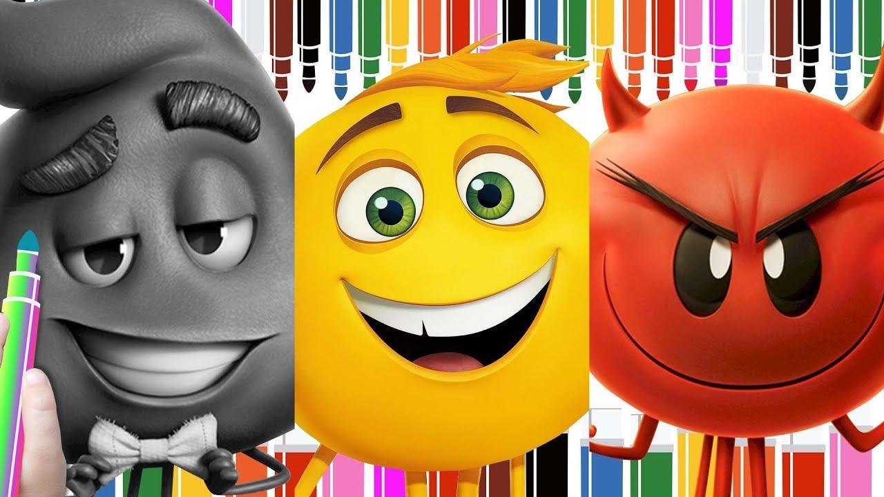 Rotulador Mgico de Emoji la Pelcula para Colorear Emoji Movie