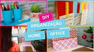 DIY - Ideias FÁCEIS e BARATAS de organização para o home office