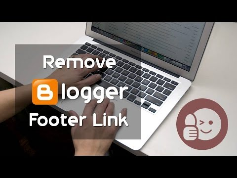 How to remove Blogger/Blogspot footer(attribution) link?