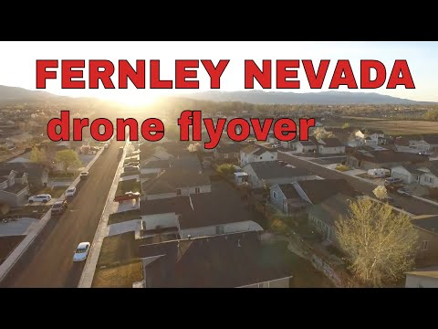 Drone flight over Fernley Nevada