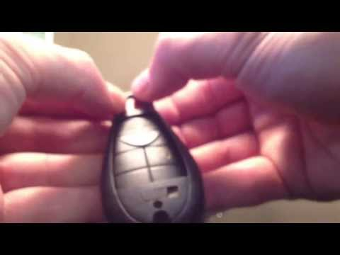 How to change battery in dodge key fob