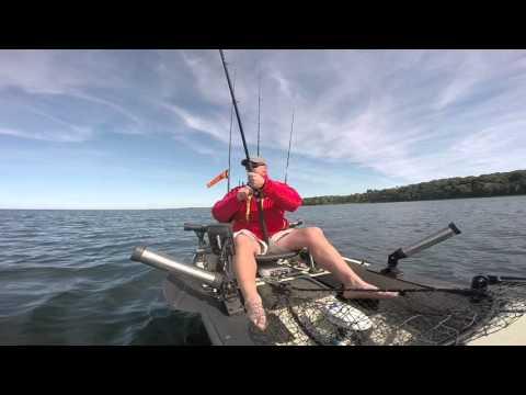 Lake Ontario Kayak Salmon Trolling
