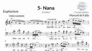 V. NANA (M. de FALLA) – Seven Spanish Folksongs (without metronome)
