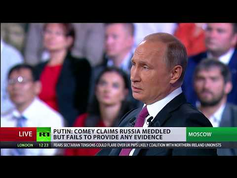 Download Youtube: 'We are ready to provide political asylum to Comey' - Putin at Q&A session