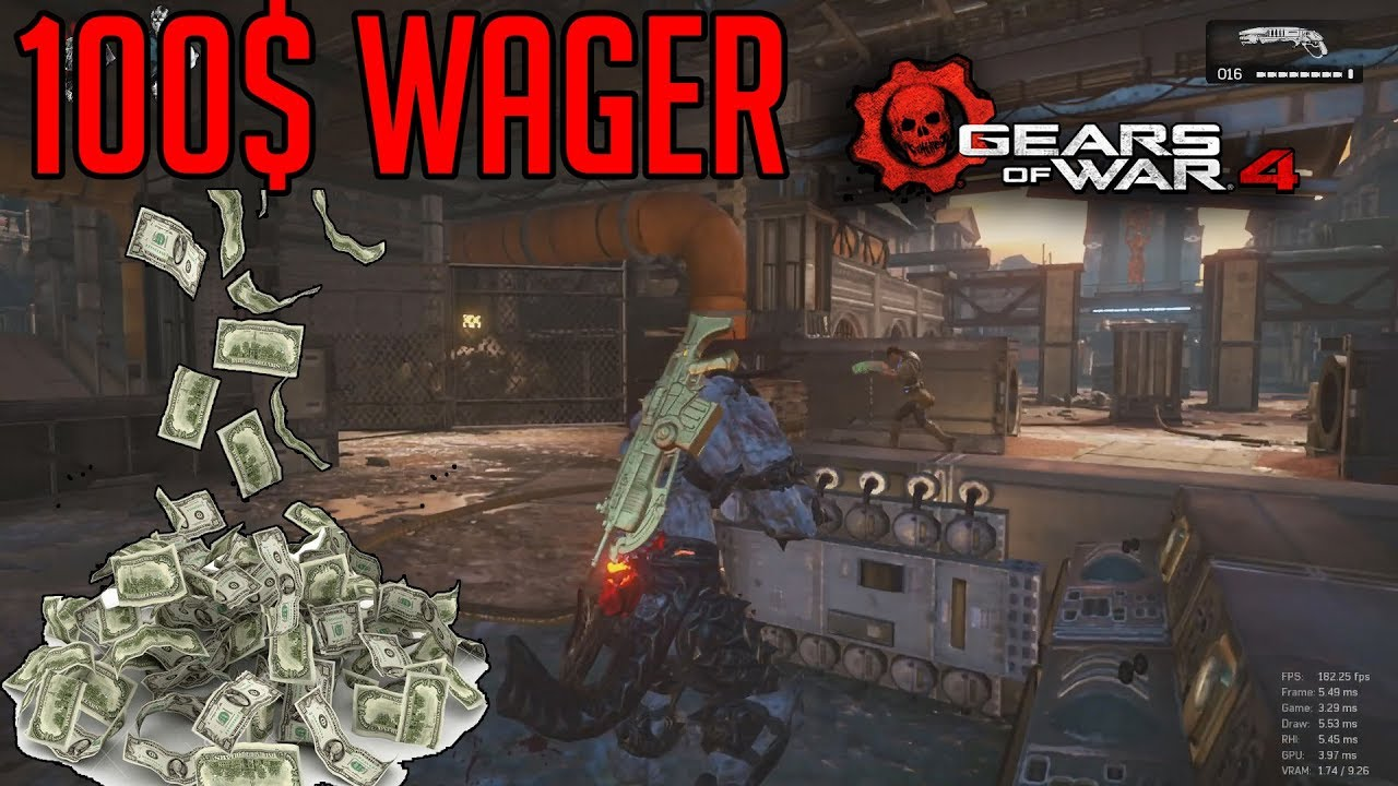100$ Wager Execution Match! | Gears Of War 4 PC Gameplay!