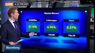 Euro Market Movers: SABMiller, Volkswagen, Tesco