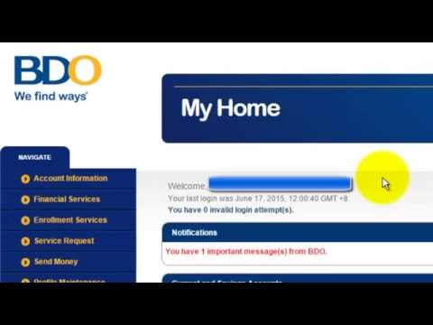 "Banco De Oro - Transferring money online using ""Send Money"""