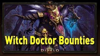 ♥ Diablo 3 - Witch Doctor Bounties (Torment 1)