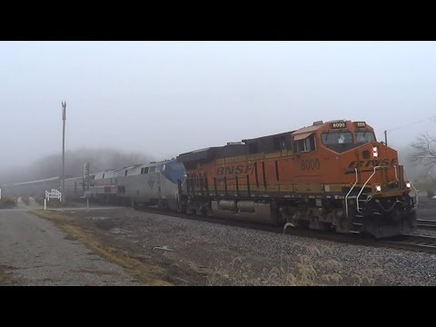 Thumbnail: BNSF 8000 and Heritage Unit on Amtrak #6