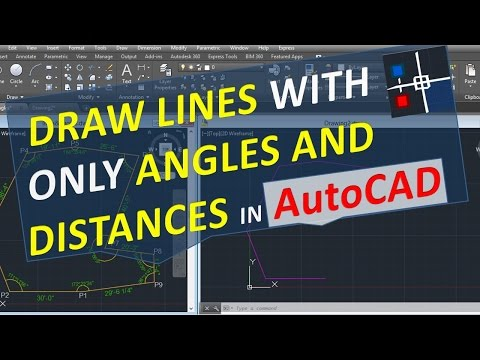 Draw lines with angles and distances only in AutoCAD with specific angle relative to another line