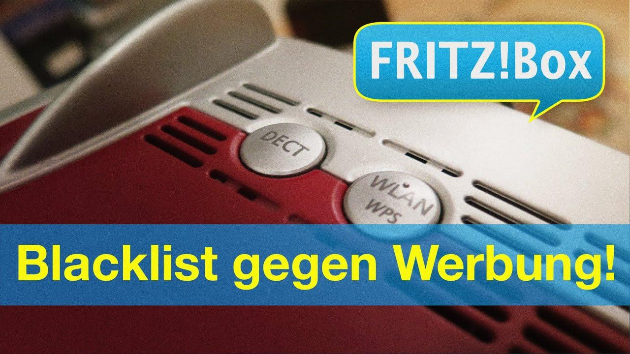 Fritzbox   Blacklist gegen Werbung einrichten