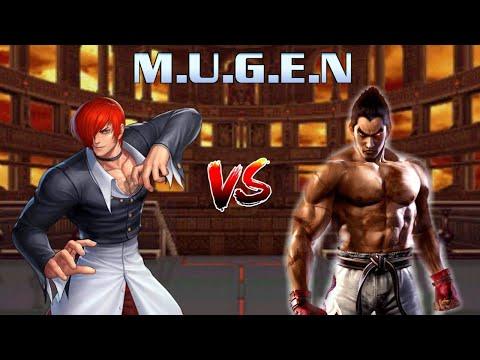 Iori Yagami ( King Of Fighter ) vs Kazuya Mishima ( Tekken)   M.I.G   KOF X Tekken Mugen Battle  