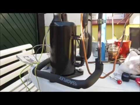 test kompressor aus defekter klimaanlage youtube. Black Bedroom Furniture Sets. Home Design Ideas
