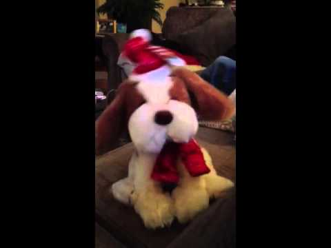 Musical Christmas Puppy