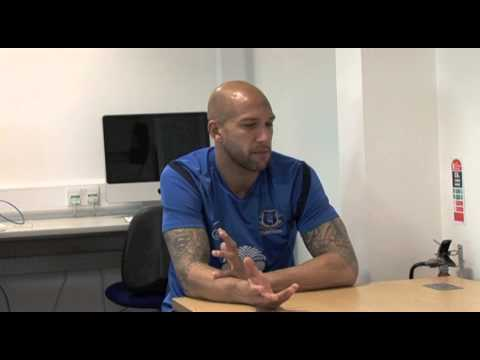 Everton's Tim Howard (formerly with Manchester United) on ...