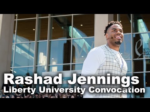 Rashad Jennings - Liberty University Convocation - YouTube