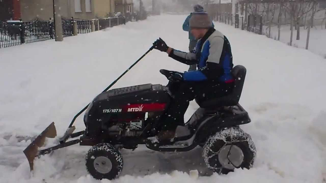 Mtd Lawn Mower With Home Made Snow Plow Mtd Traktorić I