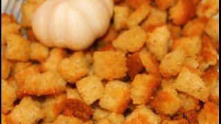 Видео рецепты - домашние сухарики в мультиварке