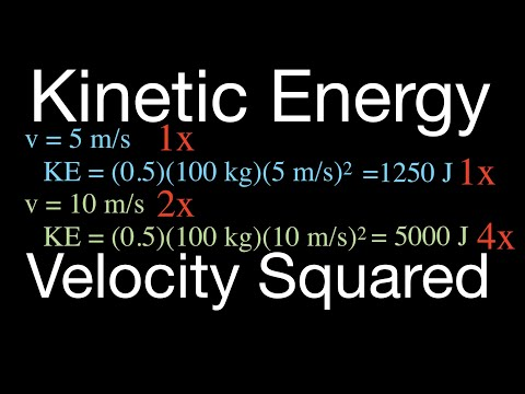 Physics, Kinetic Energy, Its Relationship to the Square of the Velocity