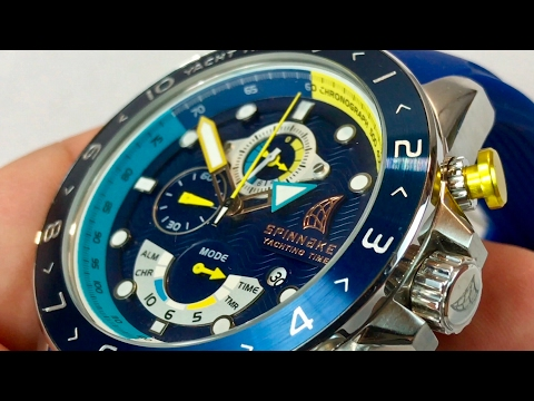 A look at the blue Spinnaker SP-5049 Amalfi Yacht Timer Chronograph Watch