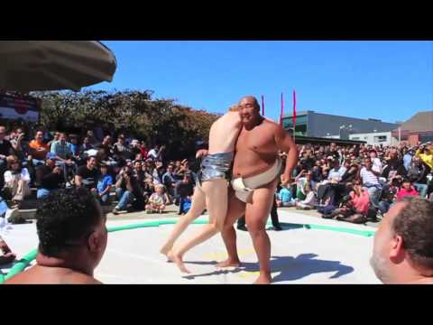 Betabrand: The Disco Mawashi vs. Sumo Champion Byamba