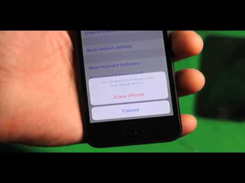 How to erase wipe reset factory restore iphone 5 for resale the right way