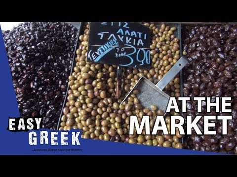 What can you find at a Greek market? | Super Easy Greek 8