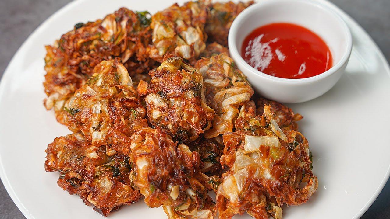 Crispy Cabbage Lacha Pakora | Cabbage Pakora | Toasted