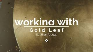 How to work with gold leaf