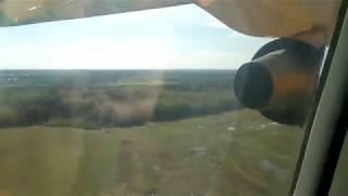 Saravia An-148 landing at Kirov (KVX)