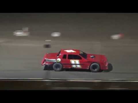 Street Stock Feature Race at Crystal Motor Speedway, Michigan, on 08-25-2018!