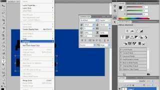 Надпись в форме тени в Adobe Photoshop CS4 (7/20)